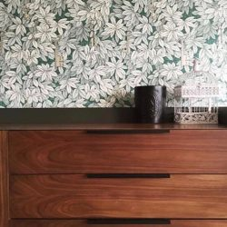 [Commune] Loving what Darren Yang has done with the modern minimalist Linear sideboard, using it as a statement piece in the