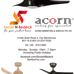 [SENSE AND BEDECK] Ceiling fans, LED lights, water heaters and bathroom products of various brands all on display over at our showroom.