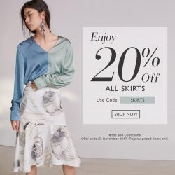 [SocietyA - Shoes & Accessories Lounge] Don't skirt around our latest online exclusive promo code: SKIRTS.