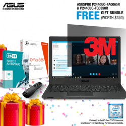 [ASUS] Receive a FREE Microsoft Office 365 Personal (worth $99) + 3M Privacy Screen Filter (worth $99) + 3 Years ESET Anti-Virus