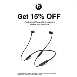 [iStudio] 15% off BeatsX promo extended till the end of the month, 31st December 2017!