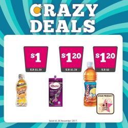 [7-Eleven Singapore] Get your hands on any one of these Crazy Deals and earn a stamp for every $3 spent!