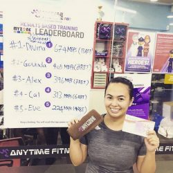 [Anytime Fitness] Divina won herself a prize for topping the first MEPs weekly chart for the month of November!