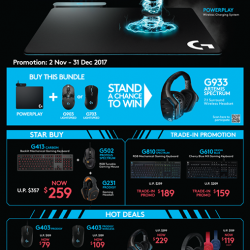 [Newstead Technologies] Gamers, upgrade your gear to latest gaming gear from Logitech now with special offer!