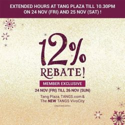 [Tangs] 12% continues today!