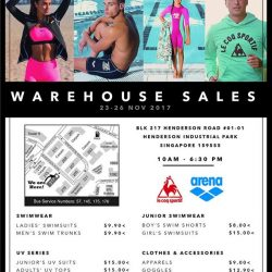 [Arena] Head on down for our year end warehouse sale this coming Thursday-Sunday on the 23rd-27th November for some
