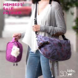 [Kipling] Only from 14 to 20 Nov, we have an exclusive YEAR END SALE PREVIEW for our lovely members!
