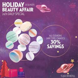 [Etude House Singapore] Be My Universe Holiday Beauty Affair 🔮- Daily Special Day 8 -Enjoy 30% on savings on all cushions!