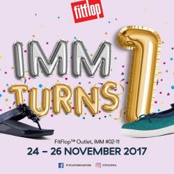 [FitFlop] Just 2 days away from our FitFlop™ IMM Outlet's 1st Anniversary celebrations!