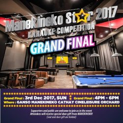 [Manekineko Karaoke Singapore] Who will be the Grand Final winner and walk away with a pair of returned ticket to Japan?