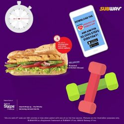 [Subway Singapore] Power through the week with the taste good, feel good Roaster Chicken Breast Sub, below 500 calories and kick start
