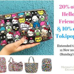 [Maternity Exchange] TAKE NOTE: 20% off Hello Friends and 10% off Tokipops offer - EXTENDED to this Sunday 12 Nov.