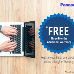 [Panasonic] Did you know you can redeem 3 more months of warranty for your Panasonic products for FREE?