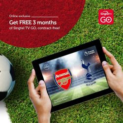 [Singtel] You won't want to miss the action when Arsenal and Spurs go head-to-head tomorrow!