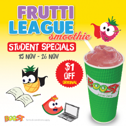 [Boost Juice Bars Singapore] We got a little special treat for our primary and secondary students here!