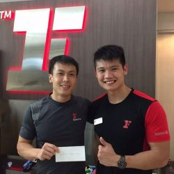 [Fitness First] BEAT THE TEAM: Congrats to Mr Ward Howe Poon for smashing the fitness challenge at Fitness First Paragon with a