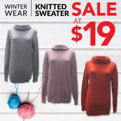 [Universal Traveller] Our knitted sweater is retailing at an unbelievable price of $19!