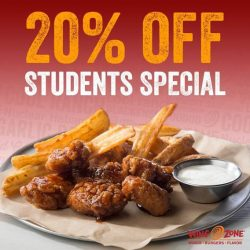 [Wing Zone Singapore] Best Student Deal in town ALL DAY Weekdays & Until 3pm on Weekends.