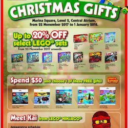 [Bricks World (LEGO Exclusive)] Marina Square Christmas FairExciting stage games, attractive prizes, Christmas discounts, exclusive FREE gifts, photo opportuntities with LEGO® Ninja KAI.