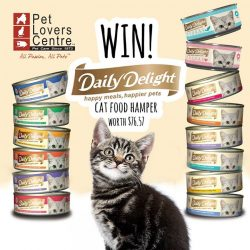 [Pet Lovers Centre Singapore] Today we're GIVING AWAY an amazing hamper for a lucky cat!