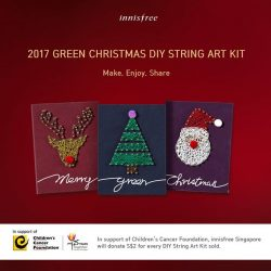[Innisfree Singapore] In support of Children's Cancer Foundation, innisfree Singapore will donate $2 for every limited edition DIY String Art Kit