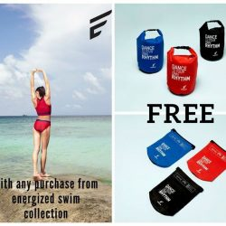 [Pierre Cardin] For any Energized swim wear purchased, you get one of these lovely waterproof pouches free!