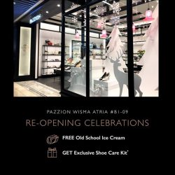 [PAZZION Singapore] Join us this weekend at the re-opening of our Wisma Atria store.