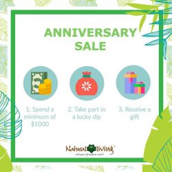 [Natural Living] In conjunction with our anniversary sale, we are giving out an assortment of items that will definitely be a great