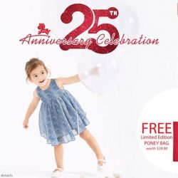 [Isetan] Celebrate Poney's 25th Anniversary with us and enjoy 25% off on all regular-priced items from Poney.