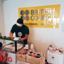 [British Council] Happening now at our Toa Payoh Centre Open House – free ice cream from Milky Kreme, balloon sculpting, face painting and