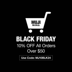 [MUJI Singapore] Click in fast for our Black Friday Online sales starting tomorrow till Sunday, 26 November!