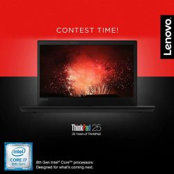 [Lenovo] This year, we're celebrating 25 great years of technological innovation with our ThinkPad series of laptops.