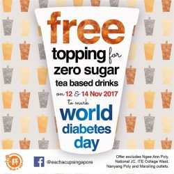 [Each A Cup] Each-a-Cup on World Diabetes Day Promotion.