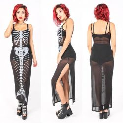 [Iron Fist Clothing] Just Added to our BFCM PreSale Bone Deep Mesh Maxi Dress 60% OFF Use Code: PRESALE
