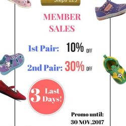 [Dr Kong] Don't miss your chance to get 123 shoes discount on the last 3 days of our Member November Sale!