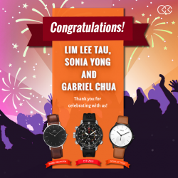 [City Chain Primo] Here are the LAST THREE lucky winners of free watches in honour of City Chain's 32nd Anniversary.