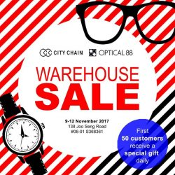 [City Chain Primo] WAREHOUSE SALE 9 to 12 NOVEMBER 2017: Get up to 80% off Solvil et Titus, Cyma, Casio, Citizen,  Seiko and