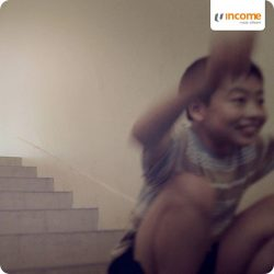 [NTUC Income Insurance] We were once fearless as children, when jumping down a flight of stairs was no big deal, but we slowly