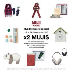 [MUJI Singapore] Plenty of rewards await when you're a MUJI member!