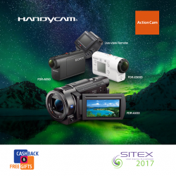 [Sony Singapore] Amazing cashback and free gifts for your new camera await at SITEX 2017!