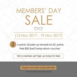 [Eyechamp Flagship] 3 days till the end of our Annual Members' day Sale!