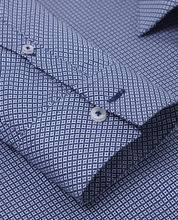 [T. M. Lewin] Our premium diamond print shirt is a sophisticated alternative to plain-colour styles.