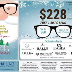 [Vision Lab] Celebrate this Joyous Christmas Festive with Vision Lab Eyewear latest promotions .