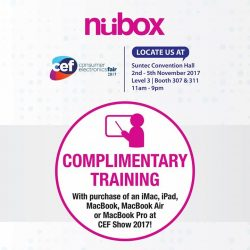 [Nübox] Complimentary Training Session is offered at CEF show!