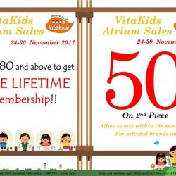 [VitaKids] Only a few days left to shop our Atrium Sales at Tampines 1, Basement 1!