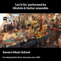 [Sonare Music School] Learn to play the ukelele or guitar this school holidays.