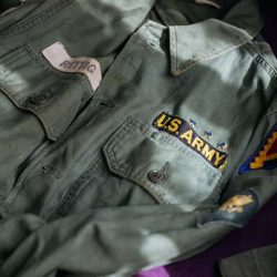 "[STRAITS ESTABLISHMENT] Early 60s P63 Utility Shirt ""RETTIG"" with original pin & patch, SOLD!"