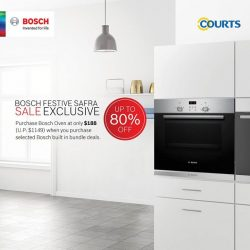 [Courts] Come by Bosch Festive SAFRA Sale on 18th-19th Nov 2017 for a day of Christmas shopping!
