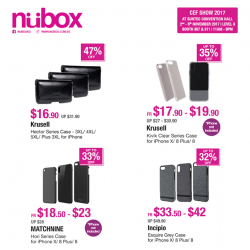 [Nübox] Classy iPhone X and 8 series cases are available for grabs at CEF with discounts up to 47%.