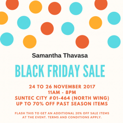[Samantha Thavasa] Ready to shop our Black Friday sale?